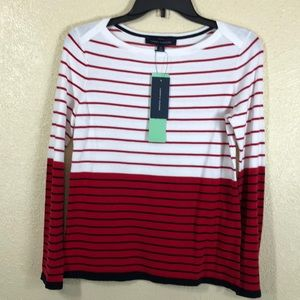 Tommy Hilfiger Sweater NWT Red White Small Petite